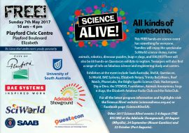 Elizabeth Science Alive! 2017 flyer