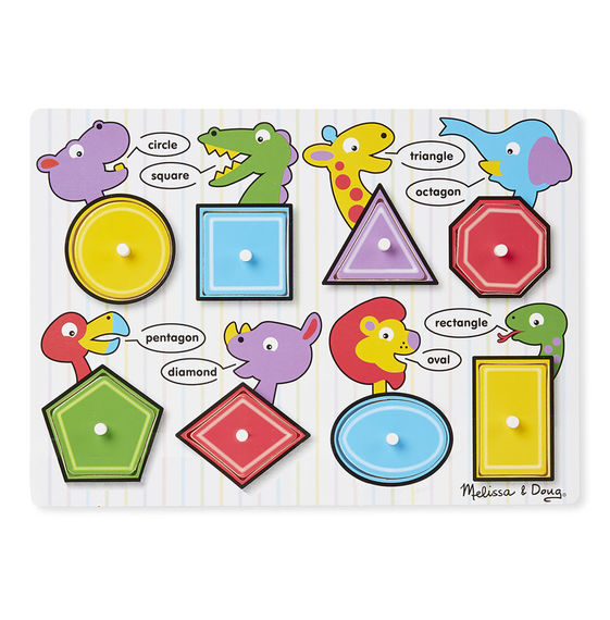 M&D - Shapes Peg Puzzle