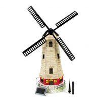 Large Garden Windmill Light House Solar Light 2 LEDs