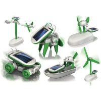 Diy 6 In 1 Educational Solar Toy / Robot Kit