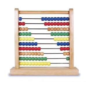 Melissa & Doug Wooden Abacus for quick maths calculations